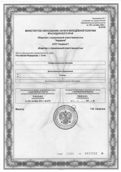 Лицензия. Приложение 2.
